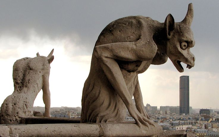 What do you see when you look up to the top of the great cathedral of Notre Dame? You see monsters, half-man and half-beast. These demon looking creatures carved out of stone are called gargoyles. They are one of the…