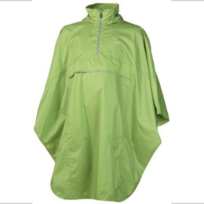 Rain poncho in green