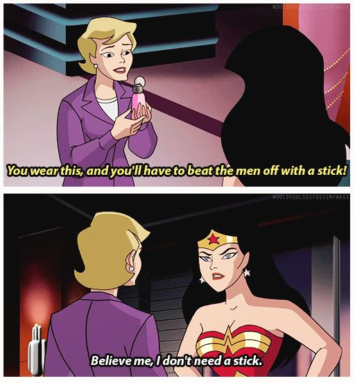 When you don't need a stick. | 17 Times You Needed More Wonder Woman In Your Life
