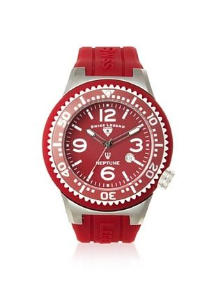 Swiss Legend Men's 21818S-C-A Neptune Maroon Dial Silicone Watch