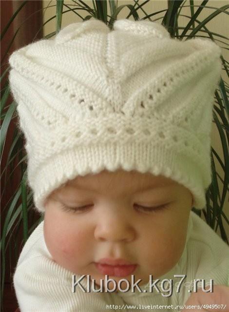 Очаровательная шапочка малышке