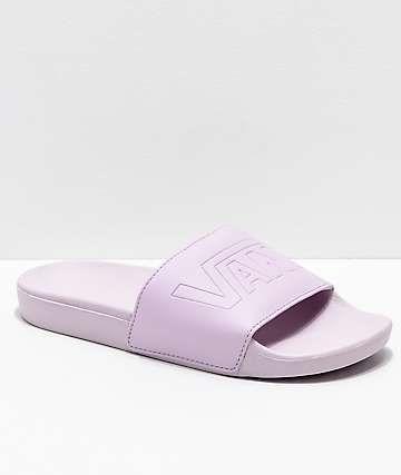 02a88a29cc6a Vans Lavender Fog Slide Sandals