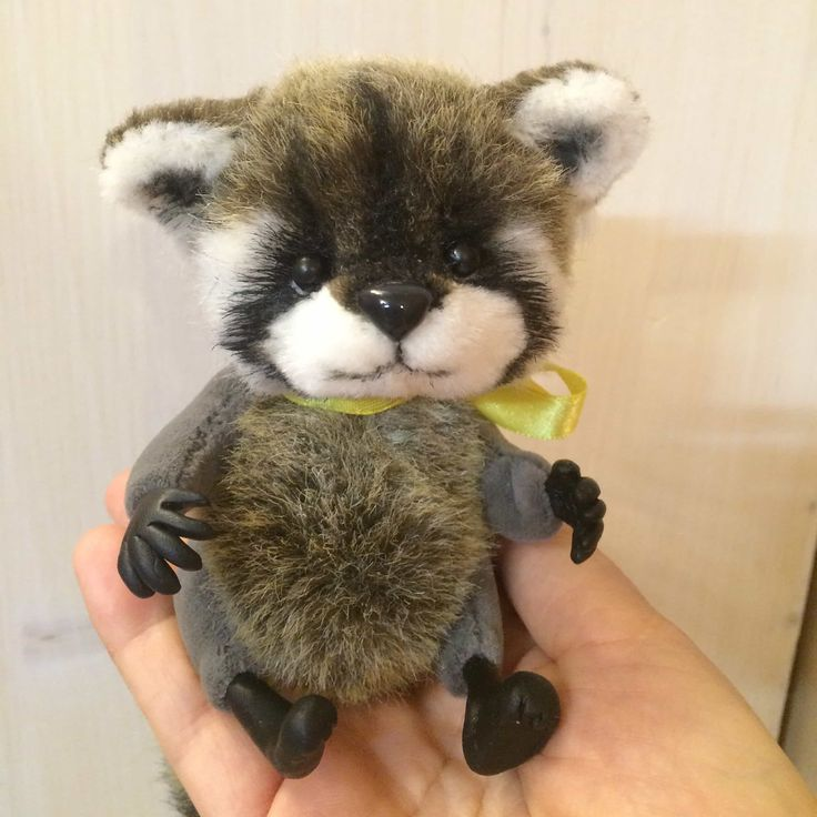 My new handmade Raccoon Tosha toy :) just made it!
