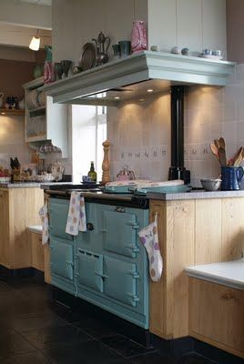 kitchen love...a great AGA stove/cooker..I have dreamed of an AGA stove for decades..