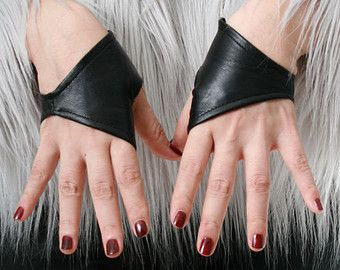 40cm 15.75 Fingerless Genuine Leather Gothic emo by runnickyrun