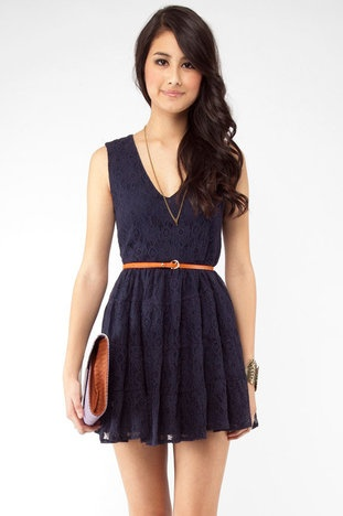 Lace Blue SundressSummer Dresses, Cute Dresses, Navy Lace, Grad Dresses, Blue Lace, The Navy, Lace Dresses, My Style, Belts Dresses
