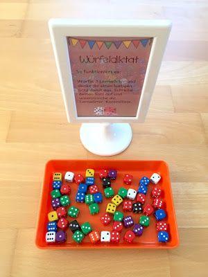 materialwiese: Lernwörterübungen für die Grundschule: Würfeldiktat und Partnerdiktat