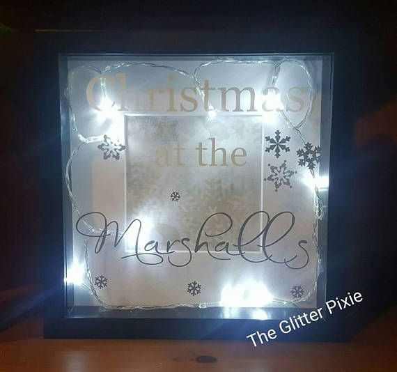 Christmas at the personalised box frame light up frame