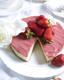 Simmone Logue's Strawberry Cheese cake