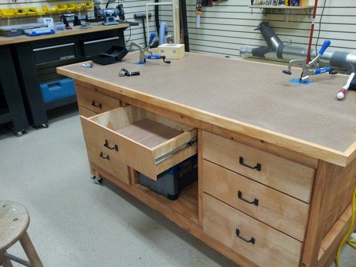 Shop Assembly/Outfeed Table   By Hotncold @ LumberJocks.com ~ Woodworking  Community
