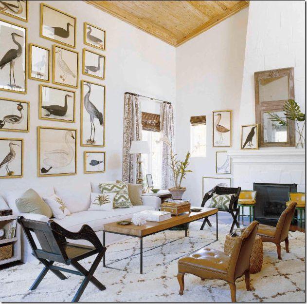cote de texas blog/ Top Ten Design Elements: Wall Hangings - Mirrors, Murals, Screens, Art Work, Wallpaper, Porcelains
