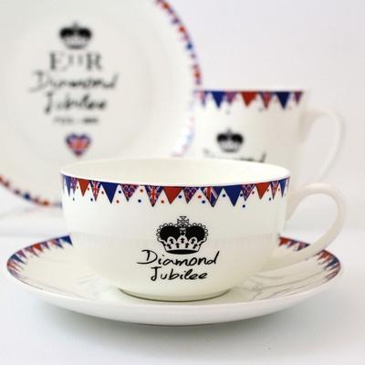 Commemorative Diamond Jubilee teacup.
