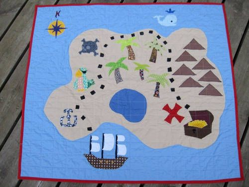 Pirate play mat - this would be so fun with a couple of little boats or action figures