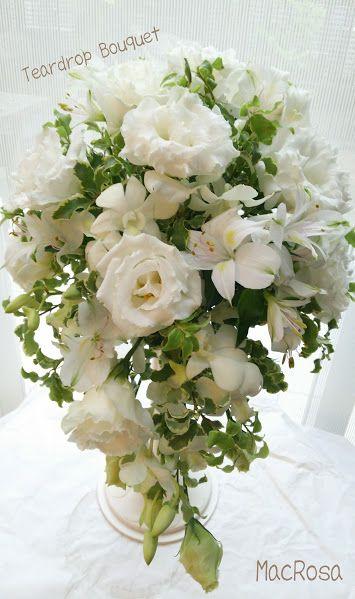 ブーケホルダーを使って好きなカラーのお花を揃えて、ティアドロップブーケ制作♡ *DIY ブーケ・手作りアイデア例一覧集*