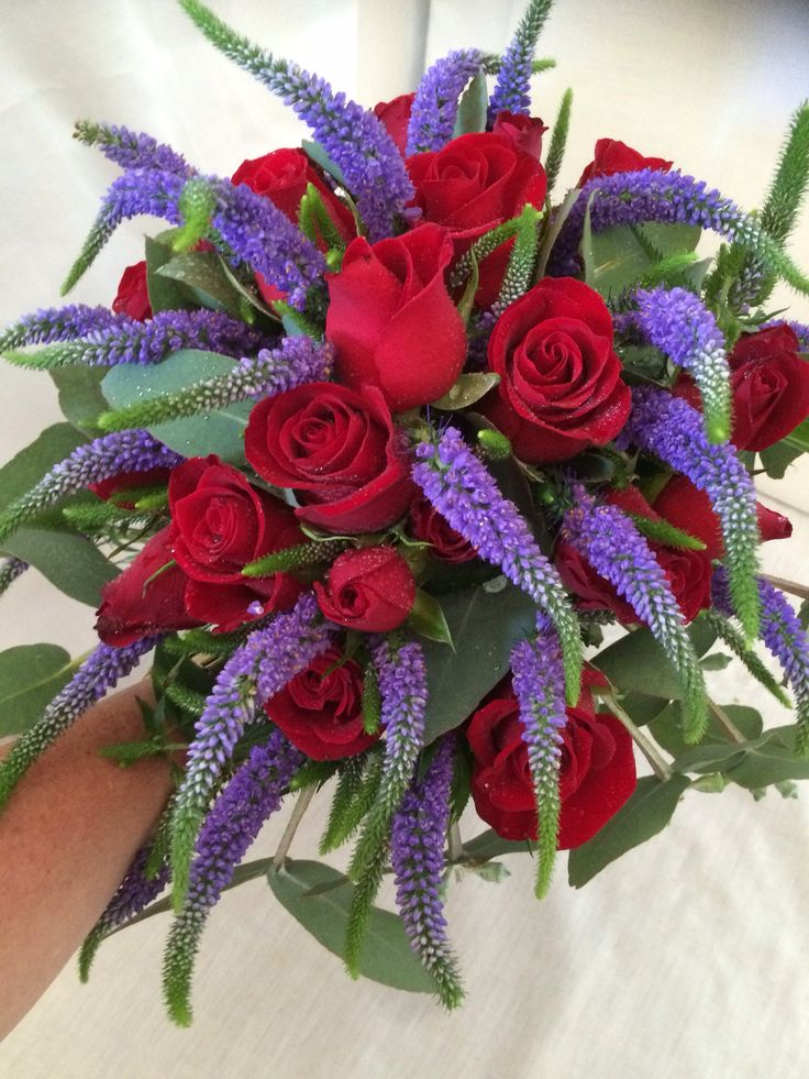 Rose and Veronica bouquet.