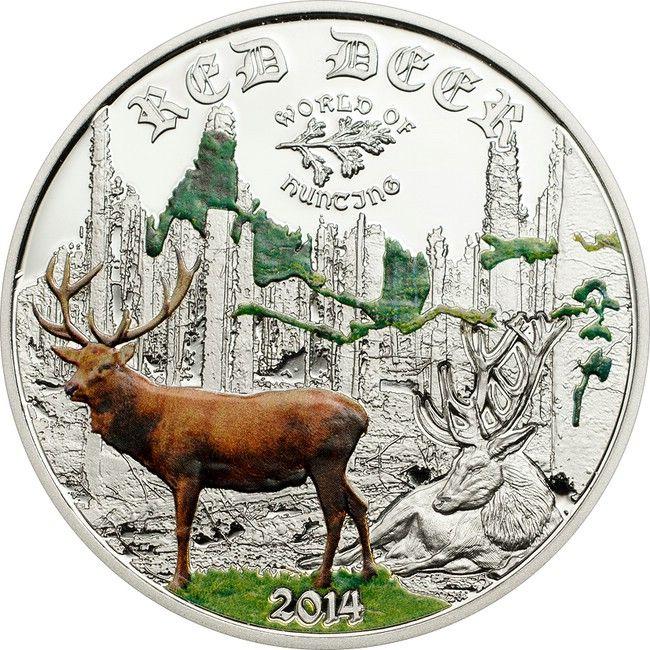 2 Dollar Silber Welt des Jagens: Rothirsch PP