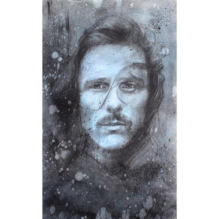 David Fooks - Q&S 49. Zack Charcoal Portrait