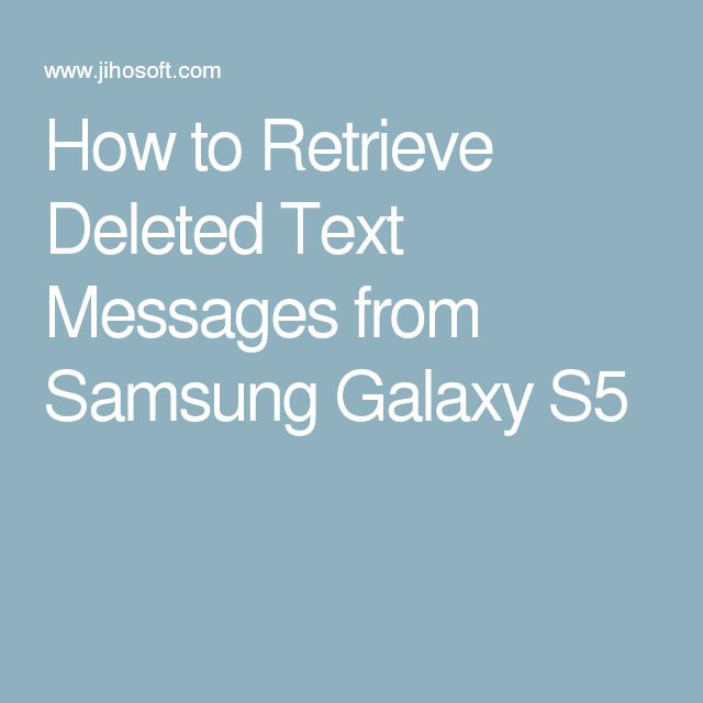 how to find deleted text messages on samsung