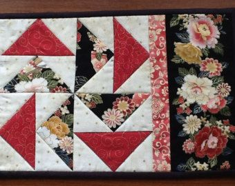 mug rug pattern snack mat mini quilt placemat by AnniesQuiltCraft
