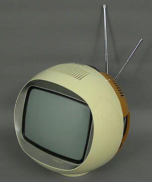 Télévision boule Radiola vintage années 70