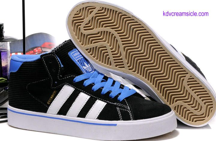 Buy $64.99 Buy Adidas X Slap Magazine Campus Vulc Mid Black Blue White Skate Shoes For Cheap Sale- kd5creamsicle.com