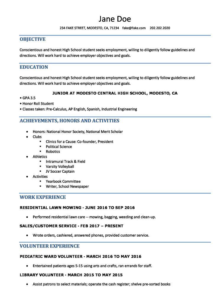 pindesigners on resume examples  high school resume