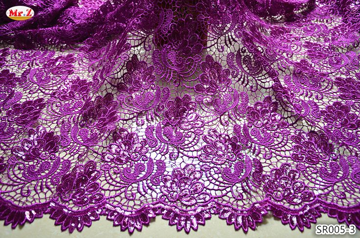 Cheap lace cotton fabric, Buy Quality lace fabric wedding directly from China lace fabric white Suppliers:  High Quality African Cord Lace Latest 2015 Purple Cord Lace Fabrics New Arrivals African Wedding Lace Farbic With Sequi