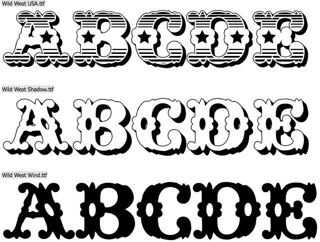Fifteen Free Ornamental Wood Type Fonts | Clever Someday