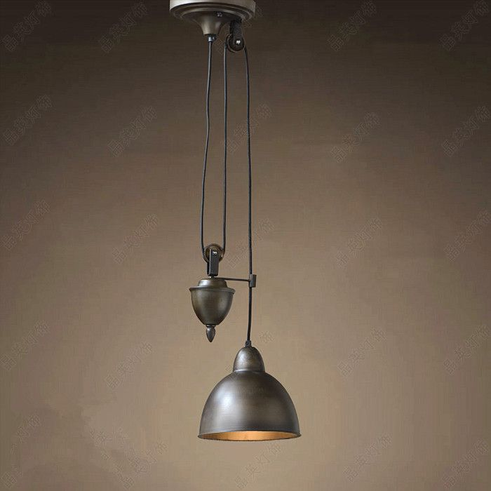 Find More Pendant Lights Information About Vintage Wrought Iron Pulley Ceiling Lamps