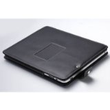 Leather Carrying Case Cover/Folio With Built-in Stand for Apple iPad 3G tablet / Wifi model 16GB, 32GB, 64GB (BLACK) (Personal Computers)By MiniSuit
