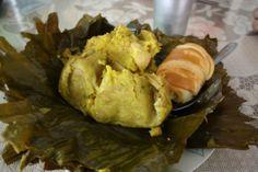 Tamales tolimenses una receta colombiana para disfrutar en el Fusion Week de comida colombiana en el Mercado de la Moncloa en Madrid del 13 al 16 de marzo.