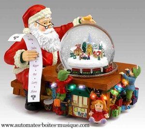 Boule à neige musicale de Noël Mr Christmas avec mélodies électroniques de Noël - Référence boule à neige musicale de Noël Mr Christmas : 78212