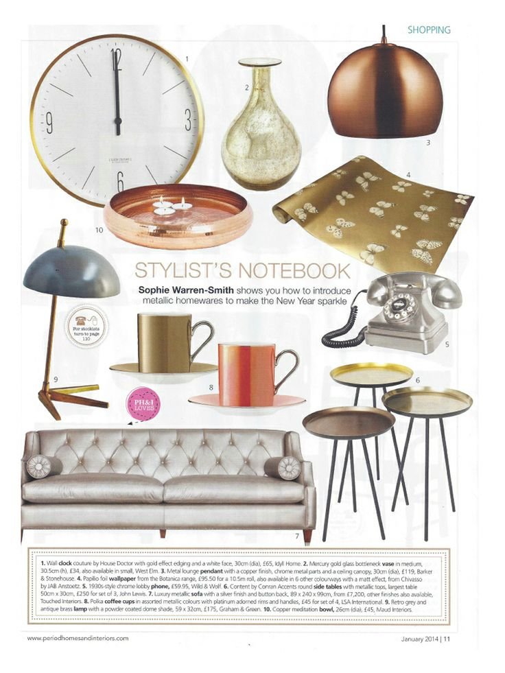 Our handcrafted copper meditation bowl is featured in Period Homes and Interiors magazine.  February 2014.  Thanks guys!
