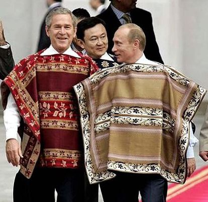 He loves to dress up with George Bush | 27 Reasons Why Vladimir Putin Definitely Won The Russian Presidential Election