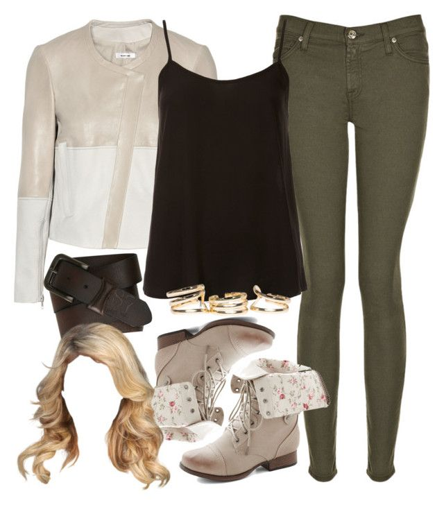 """Erica Inspired Zoo Outfit"" by veterization ❤ liked on Polyvore featuring 7 For All Mankind, Helmut Lang, Topshop and Aéropostale"