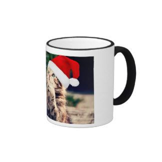 Cat - Mery Chrismas Ringer Coffee Mug