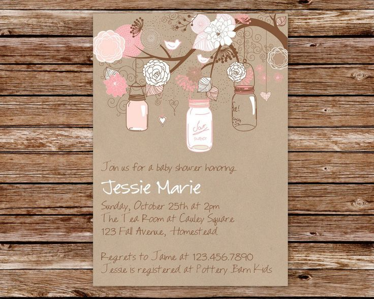 Printable Invitation Design By Thepaperblossomshop
