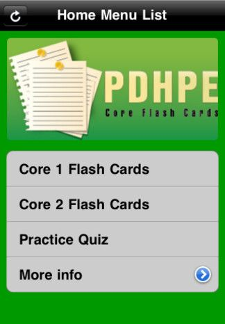 PDHPE flash cards