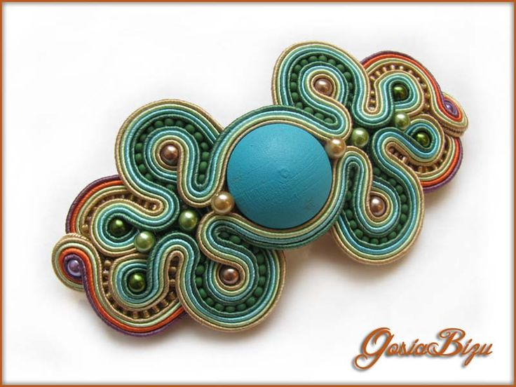 Summer Hues hairclip soutache by GosiaBizu.deviantart.com on @deviantART