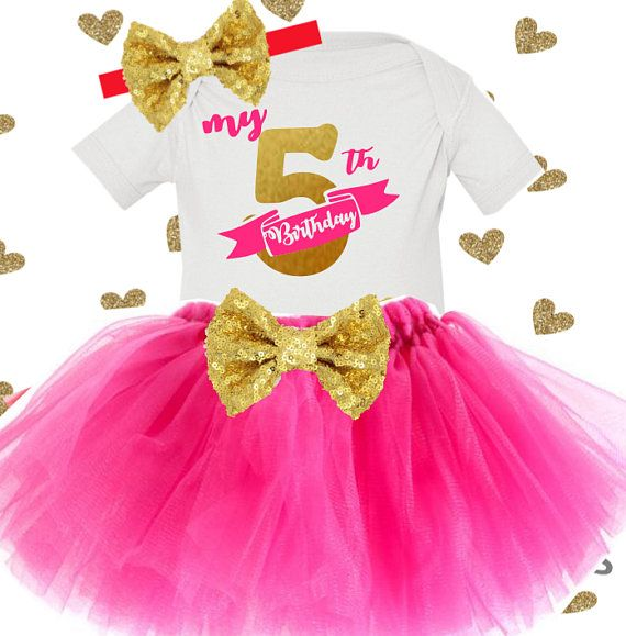 My 5th Birthday Shirt Fifth Number Girl Tutu Outfit Cake Smash
