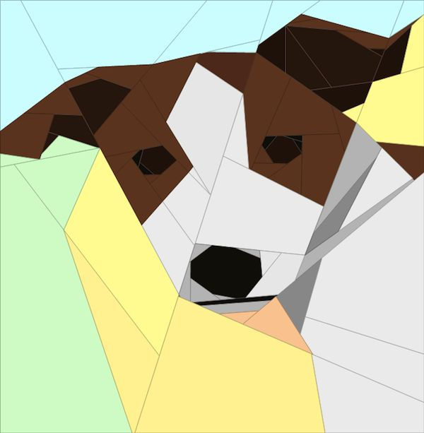Paper Piece Dog Quilt - I can probably adjust this to make it look like Tart