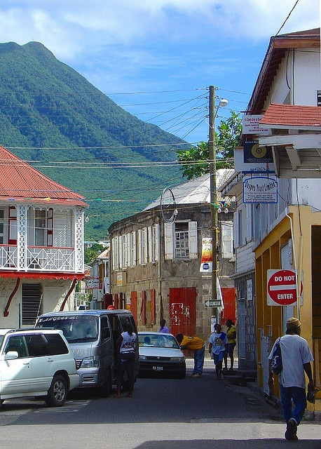 Charlestown, Nevis. I took some wedding day photos right in front of those red doors back in 2011. Sigh, I miss Nevis.