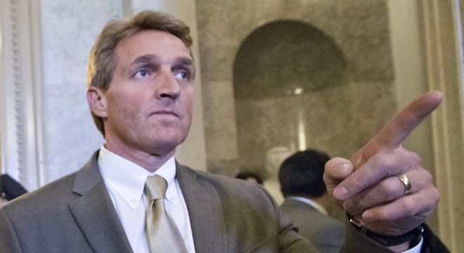 "Sen. Jeff Flake (R-AZ) has an interesting take on a recent poll by Democratic Public Policy Polling that showed his approval rating imploding after his recent vote against expanded backround checks for gun purchases: It's probably right.  ""Nothing like waking up to a poll saying you're the nation's least popular senator,"" Flake wrote on his Facebook page late Monday night…"
