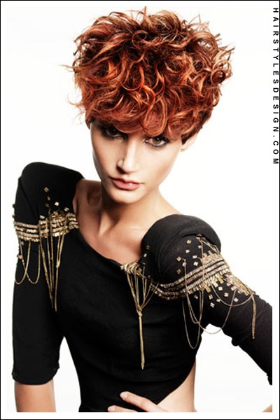 short hairstyles - curly red crop