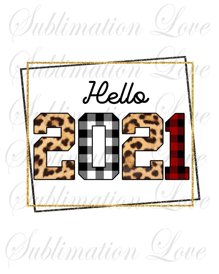 Hello 2021 PNG, Happy New Year 2021 PNG, New Years