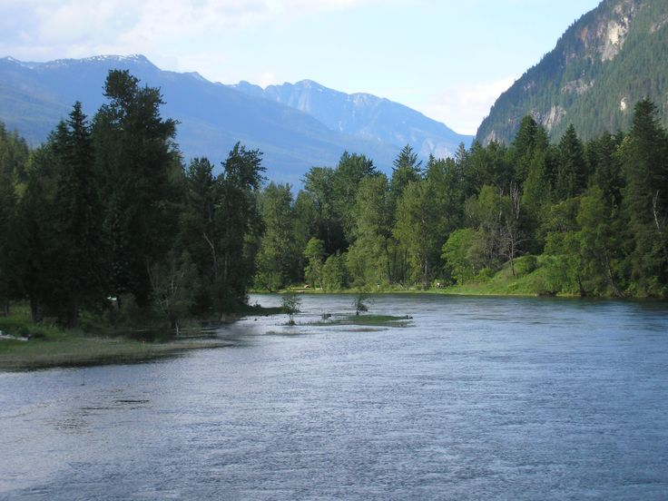 The Slocan River Facing North