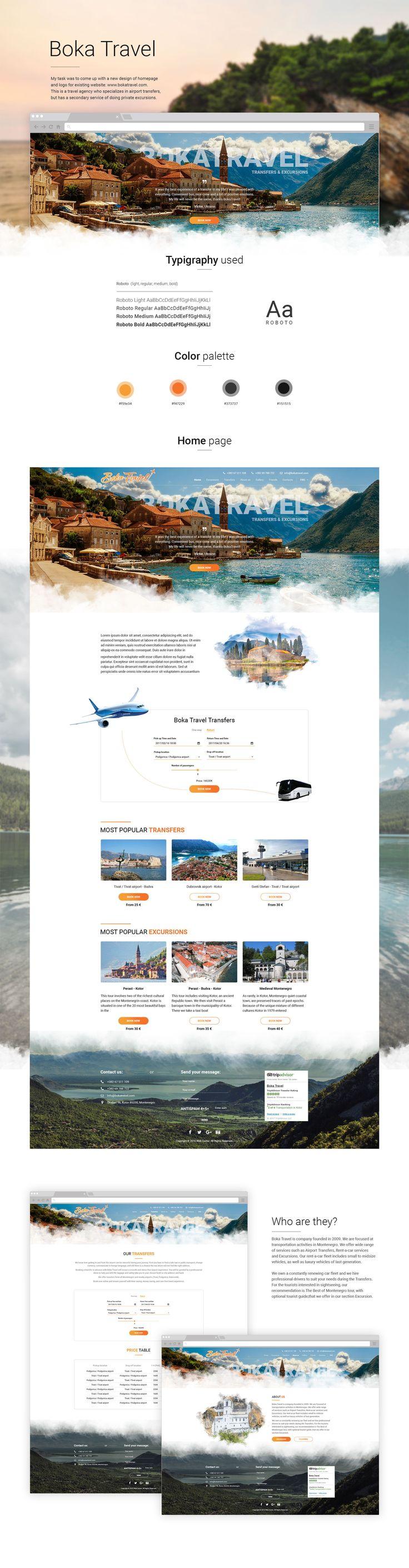 Ознакомьтесь с моим проектом @Behance: «Boka Travel - Website» https://www.behance.net/gallery/51992643/Boka-Travel-Website