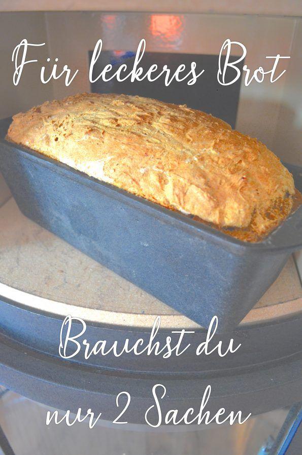 Zum Brotbacken benötigen Sie nur 2 Utensilien. Brotrezept, schnelles Brot, Brot z …   – Bloggerfrühling