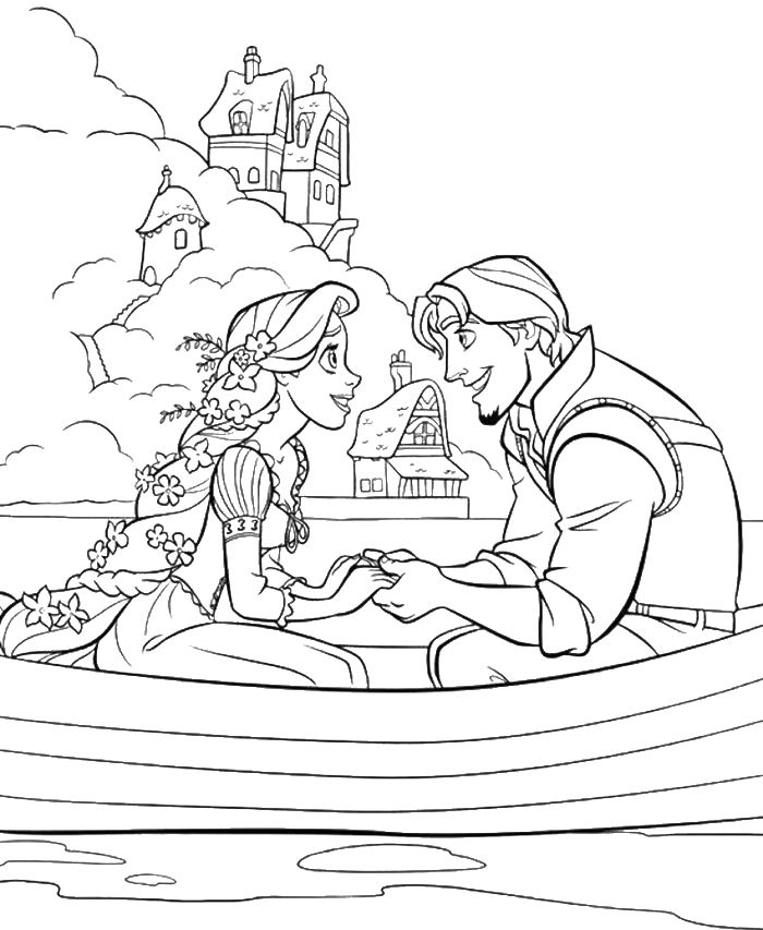 Princess rapunzel dating with flynn rider coloring pages for Disney tangled coloring pages