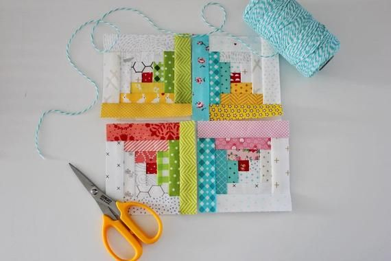 Tiny Log Cabin FPP Quilt Block PDF Pattern || Five Size Options Included || Easy Foundation Paper Pieced Pattern